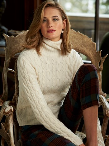 brit cashmere cable sweater