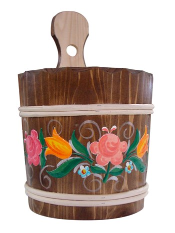 tirol bucket with flowers