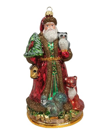 forest santa ornament