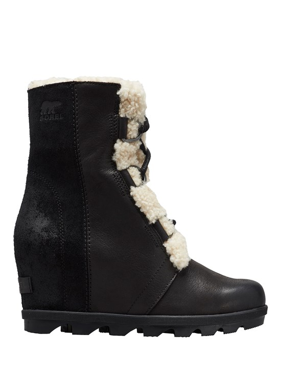 joan of arctic shearling wedge boot