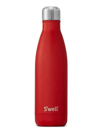 red water bottle