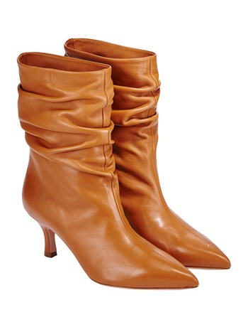 carmelina short leather boot
