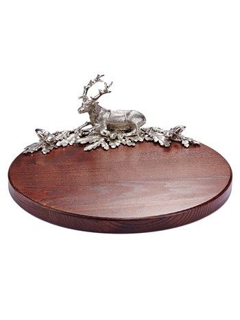 handmade stag wood tray