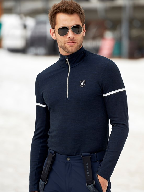 victor half zip turtleneck
