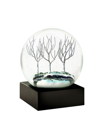 winter stream snow globe