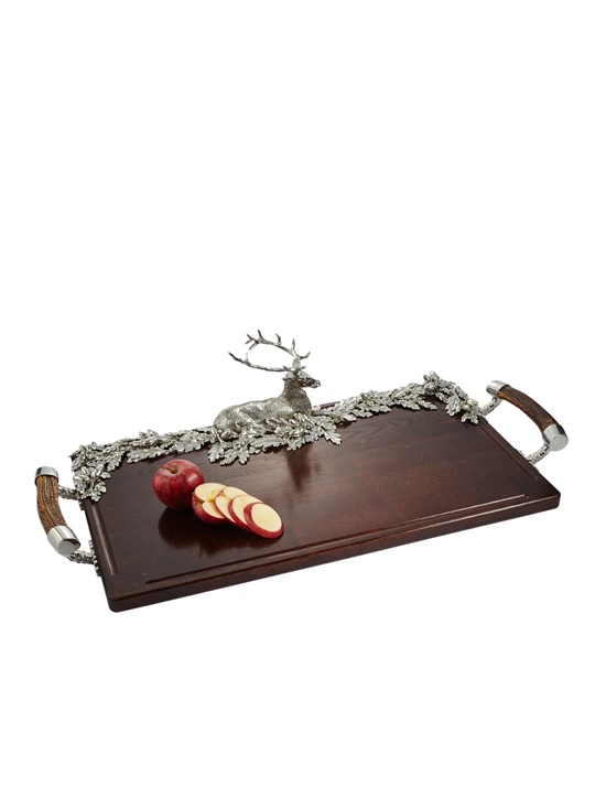 stag wood tray