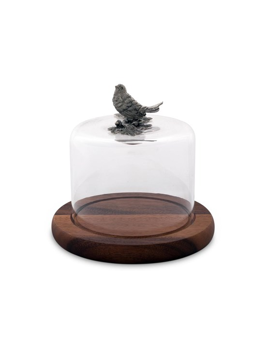 bird glass cheese dome