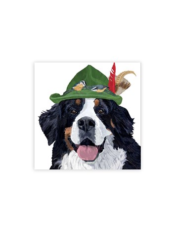 bernese mountain dog cocktail napkins