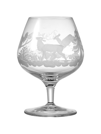 stag crystal brandy glass