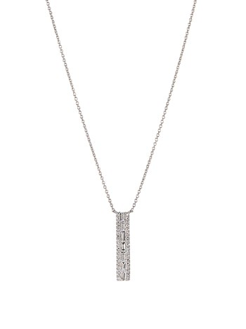 bar drop diamond necklace