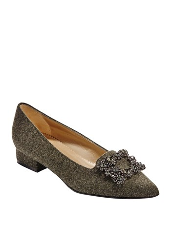 crystal loden flat