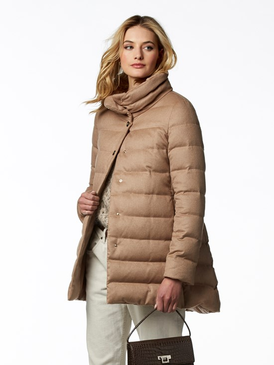 lexie cashmere silk down coat
