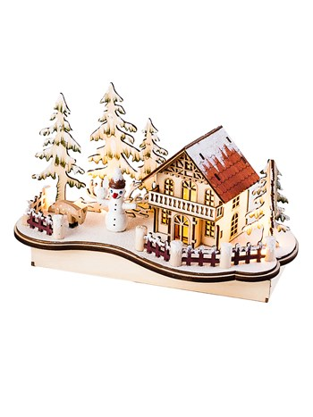 alpine snowman electric music box