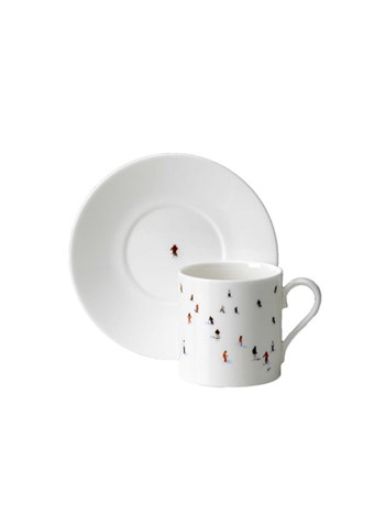 skier espresso cup and saucer