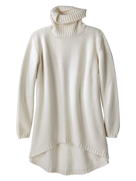 hadley hi lo cashmere turtleneck sweater