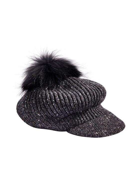newsboy lurex knit hat