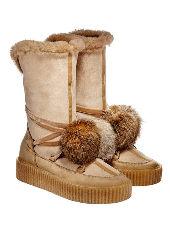 billie shearling moon boot