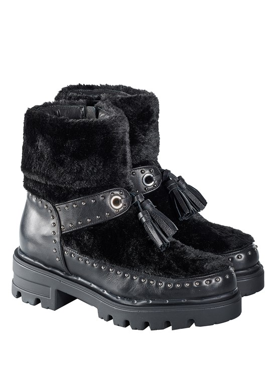 monika faux fur boot