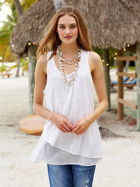 lucia cotton silk tank