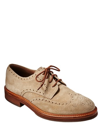 leather suede wingtip dress shoe