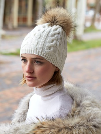 cindy cable wool knit hat