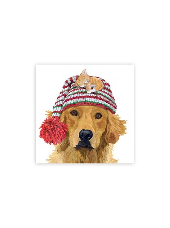 golden retriever dog cocktail napkins