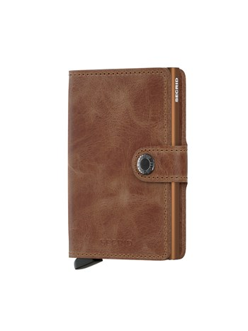 mini wallet vintage cognac/rust
