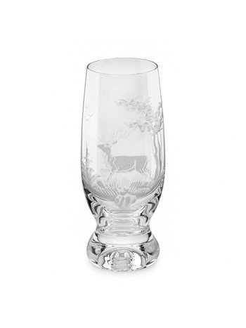 stag crystal beer glass