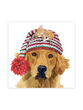 golden retriever lunch napkins