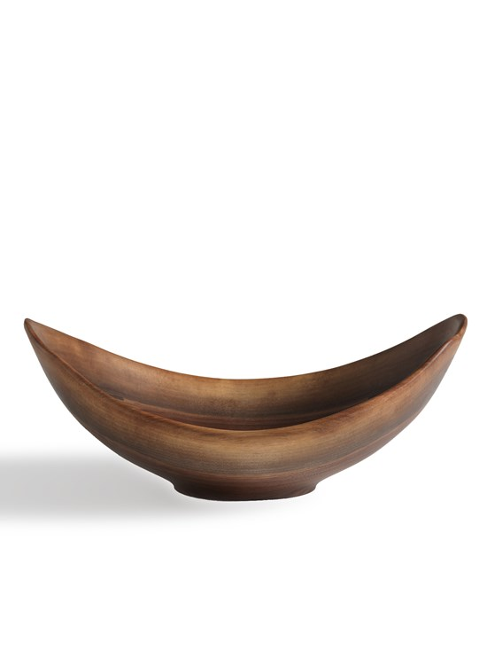 20'' walnut live edge bowl
