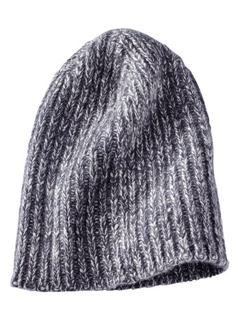 tower twisted cashmere knit hat