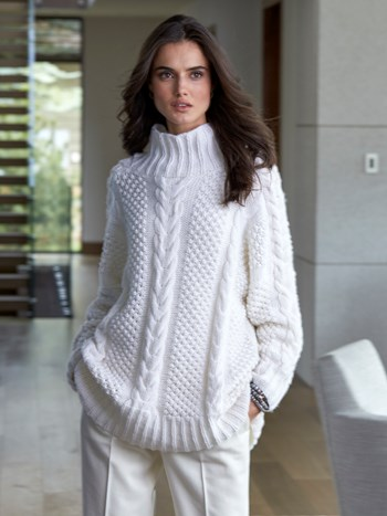gstaad long handknit cashmere sweater