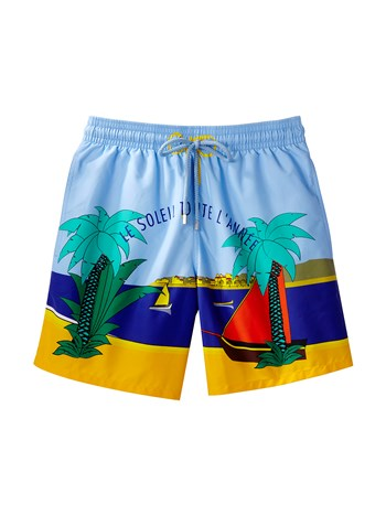 morea soliel print swim shorts