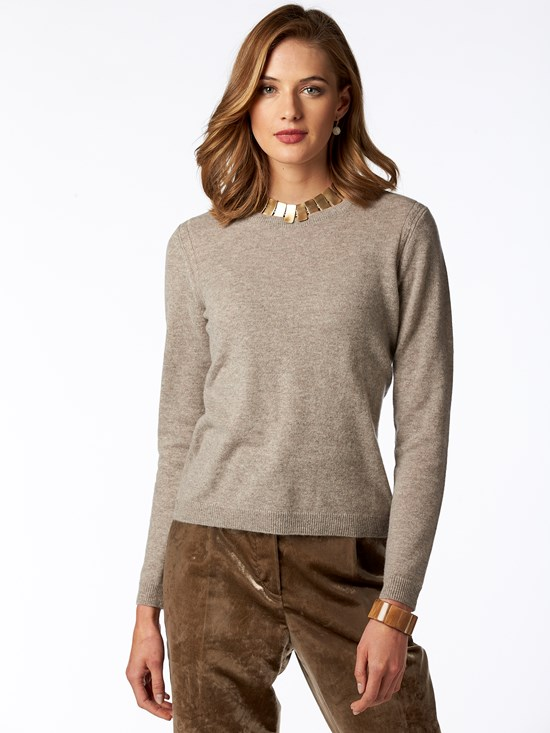 luxe layer cashmere crewneck sweater