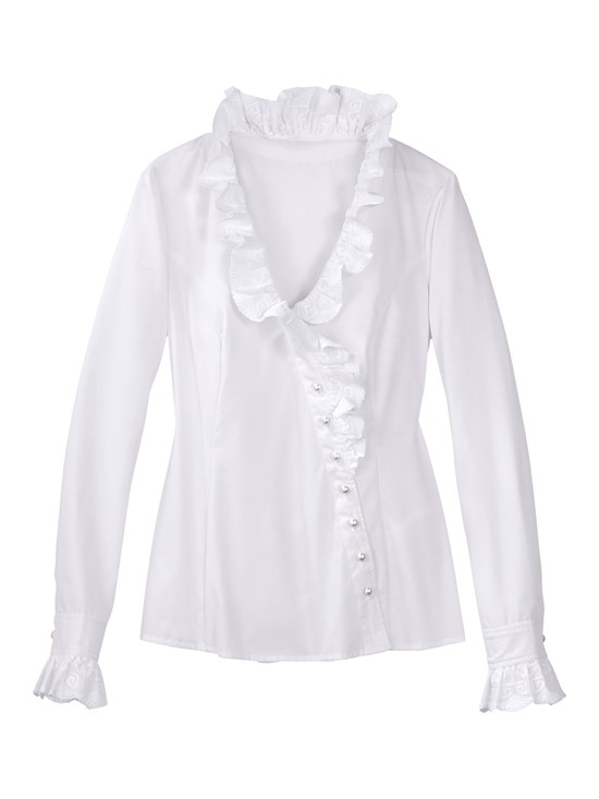 aurelia embroidered ruffle blouse