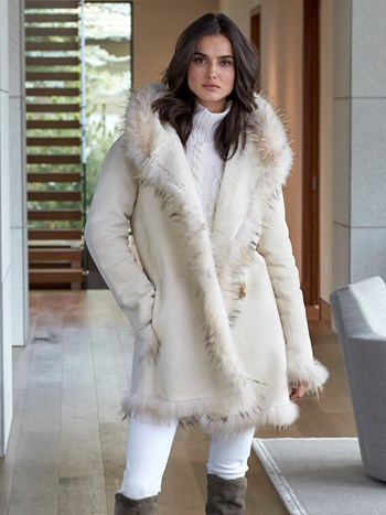 patrice reversible shearling coat