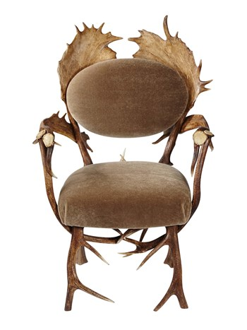 antler arm chair