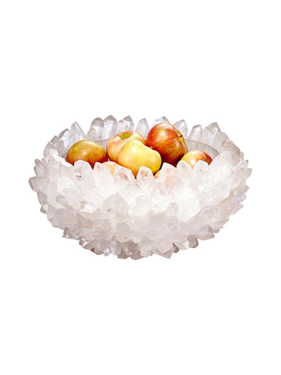 clear quartz bowl