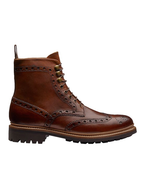 fred commando haindpainted wingtip boot