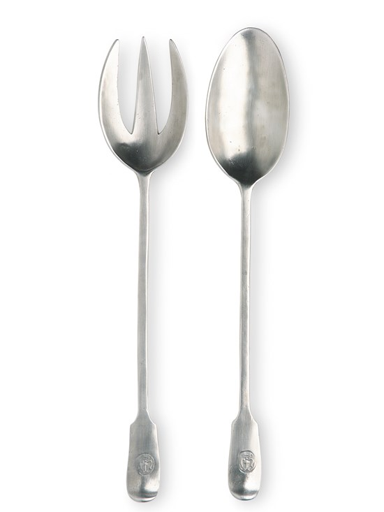 pewter serving fork