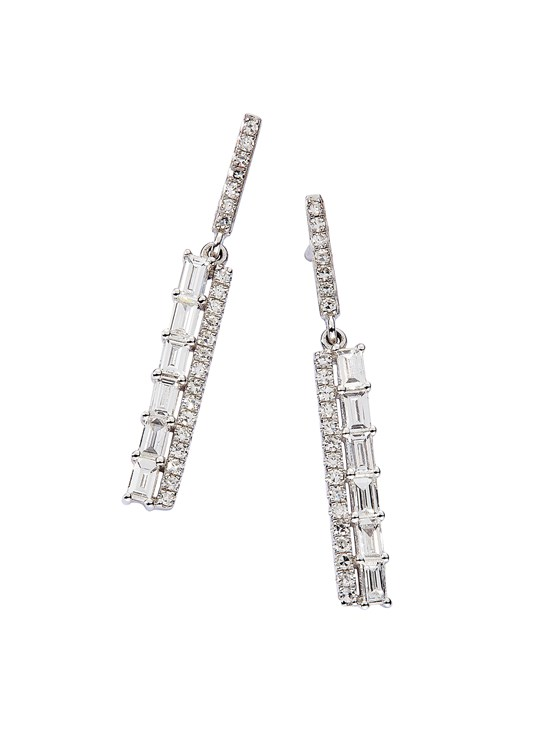 bar drop diamond earring