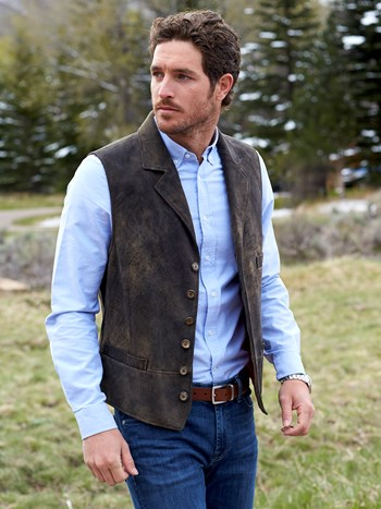 gaucho leather vest