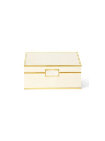 cream shagreen small jewelry box