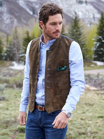 saalbach leather vest