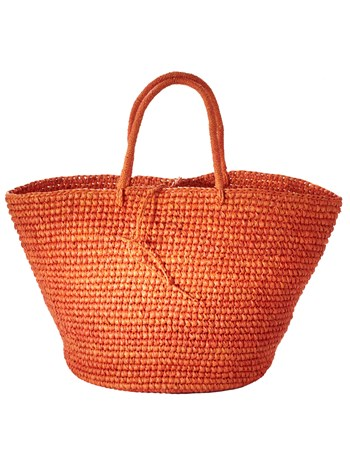 playa orange tote