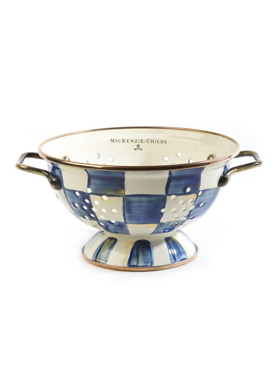 royal check small colander