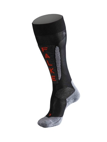 women's austria black race ski sock