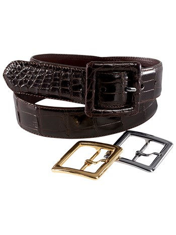 gator buckle set dark brown