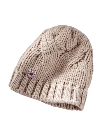luxe cable cashmere knit hat