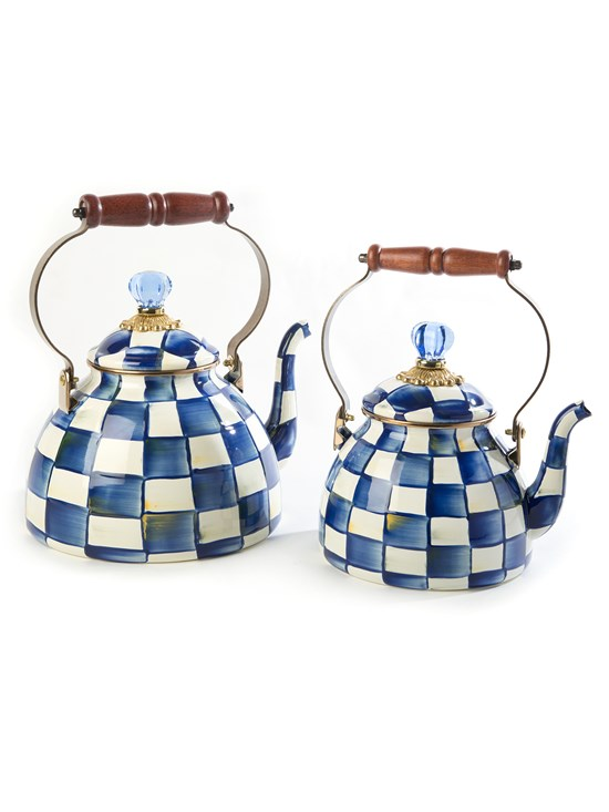 royal check medium tea kettle